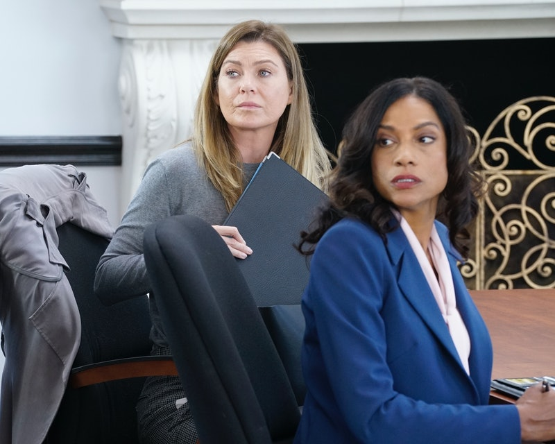 """Meredith had her medical board hearing on the Nov. 14 episode of 'Grey's Anatomy,' titled, """"My Shot.""""  (Pictured: Ellen Pompeo, and Devika Parikh)"""