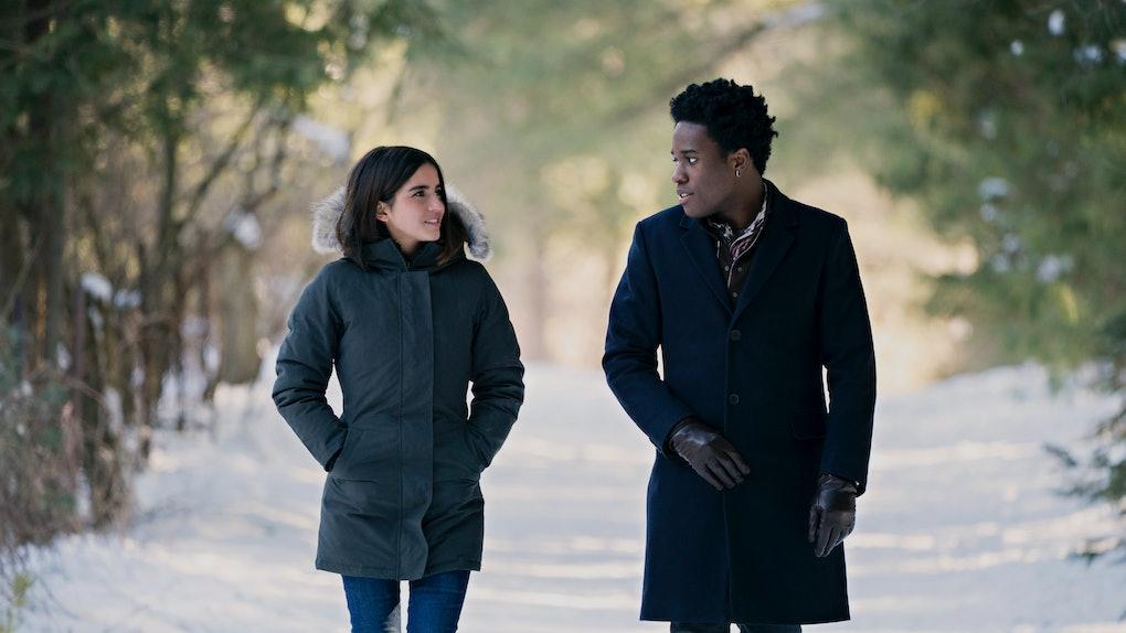 Isabela Merced and Shameik Moore in Netflix's 'Let It Snow'