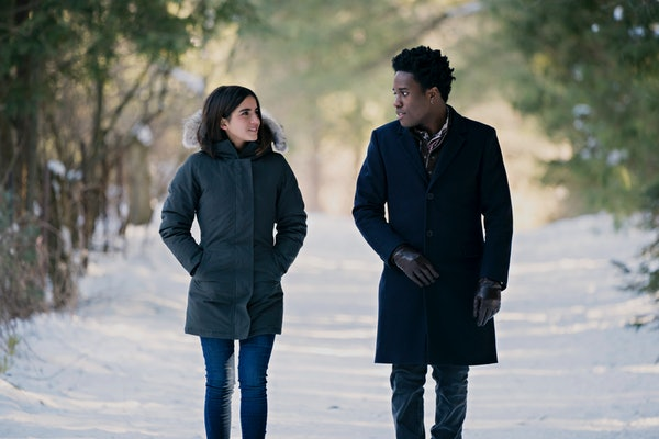 Isabela Merced and Shameik Moore in Netflix's 'Let It Snow'