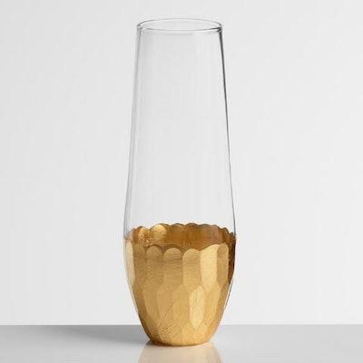 Gold Stemless Champagne Flutes Set of 4