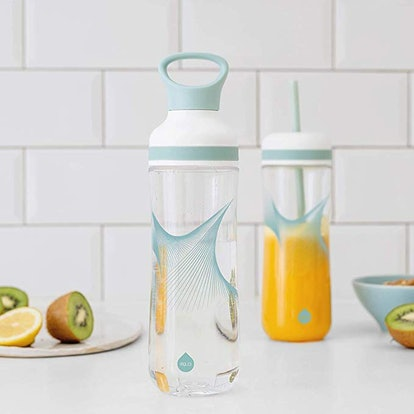 EQUA Sports Water Bottle with Straw and Smoothie Cup