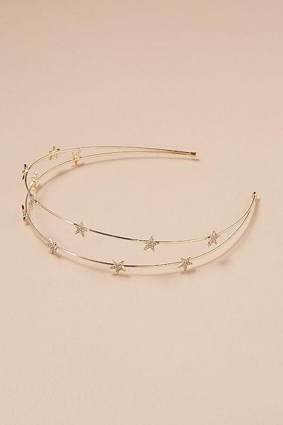 Star-Embellished Two-Way Headband