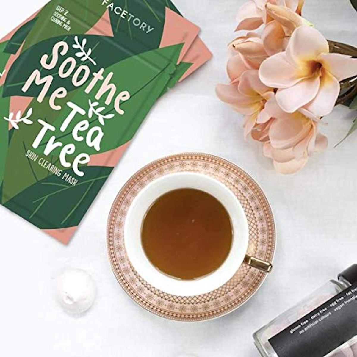 FaceTory Soothe Me Tea Tree Sheet Mask (10-Pack)