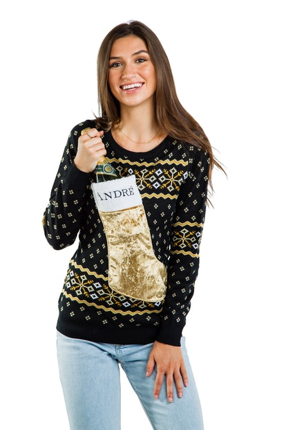 Women's Andre Champagne Stocking Sweater