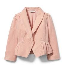 Pink velvet blazer from  Rachel zoe x janie and jack party collaboration