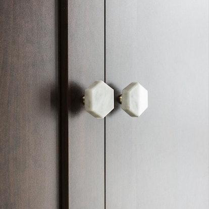 GDGZ Nordic Modern Simple Marble Brass Door Knob