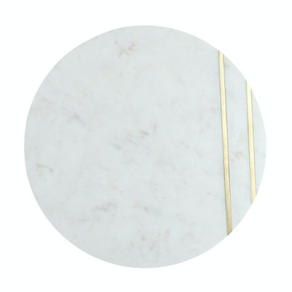 Marble Inlay Round Serving Board