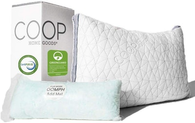 COOP Home Goods Eden Shredded Memory Foam Pillow with Cooling Gel