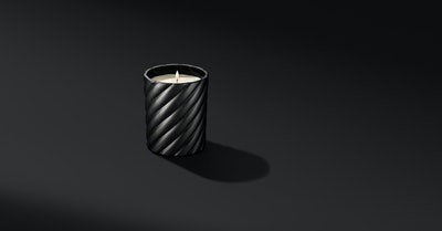 Cable Classic Candle With Amber Black Scent
