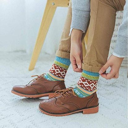 YZKKE Womens Wool Socks (5-Pack)