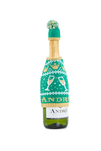 Andre Champagne Wine Bottle Sweater