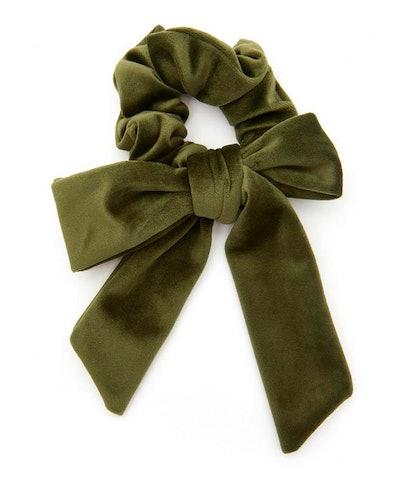 The Uniform Velvet Bow Scrunchie