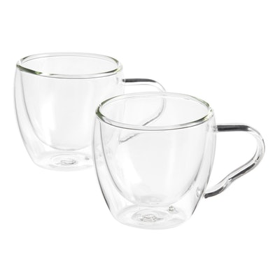 Glass Double Wall Espresso Cups 2 Pack
