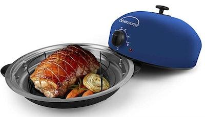 EaZy BrandZ EZO-1010BL oberdome Countertop Electric Roaster Oven with domelok Heat Technology