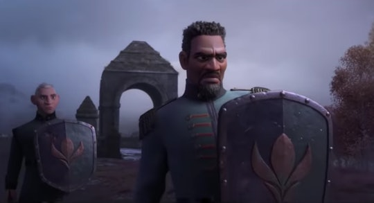 "Sterling K. Brown voices Lieutenant Destin Mattias in ""Frozen 2""."