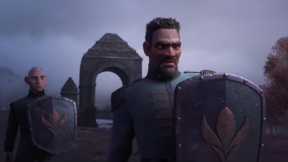 """Sterling K. Brown voices Lieutenant Destin Mattias in """"Frozen 2""""."""