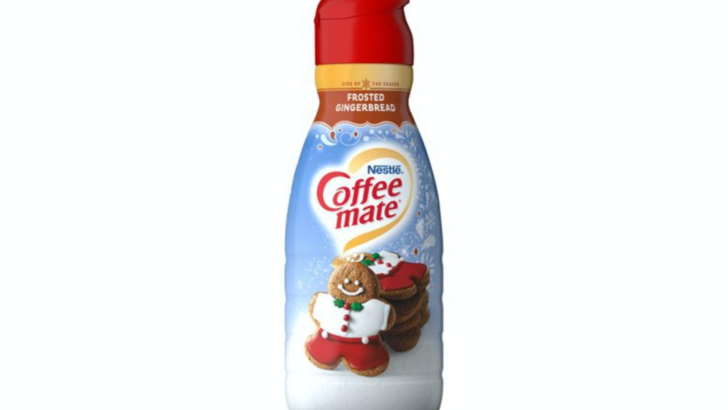Coffee Mate's Frosted Gingerbread Creamer is available at Walmart.