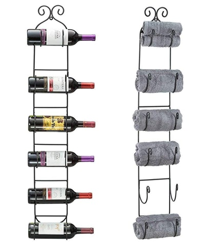 Sorbus Wall Mount Wine/Towel Rack