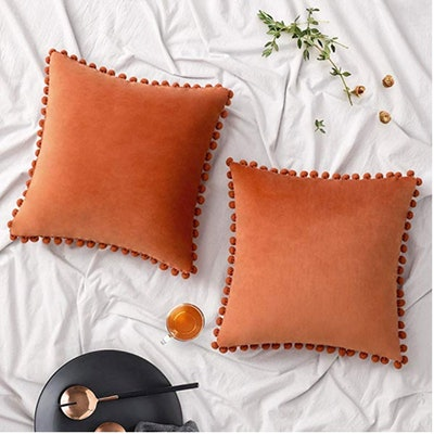 Woaboy Velvet Throw Pillow Covers (2-Pack)