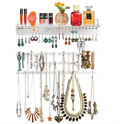Pretty Display Invisible Acrylic Jewelry Organizer