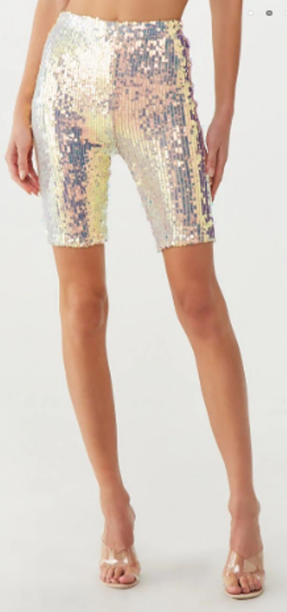 Sequin Biker Shorts