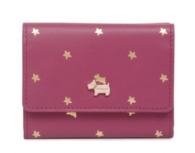 Ditsy Dog Foil Small Trifold Purse