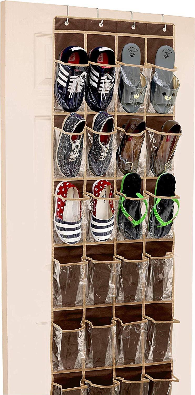 Basics 20-Pair Over-the-Door Large-Size Shoe Organizer