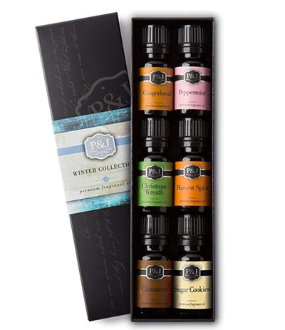 P&J Trading Premium Grade Fragrance Oils, WInter (Set Of 6)