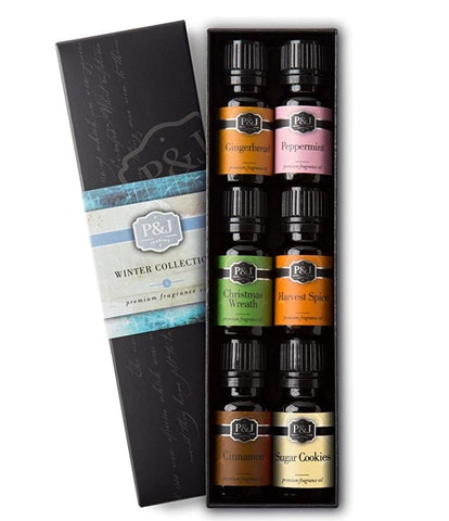 P&J Trading Premium Grade Fragrance Oils, WInter (Set Of 6)