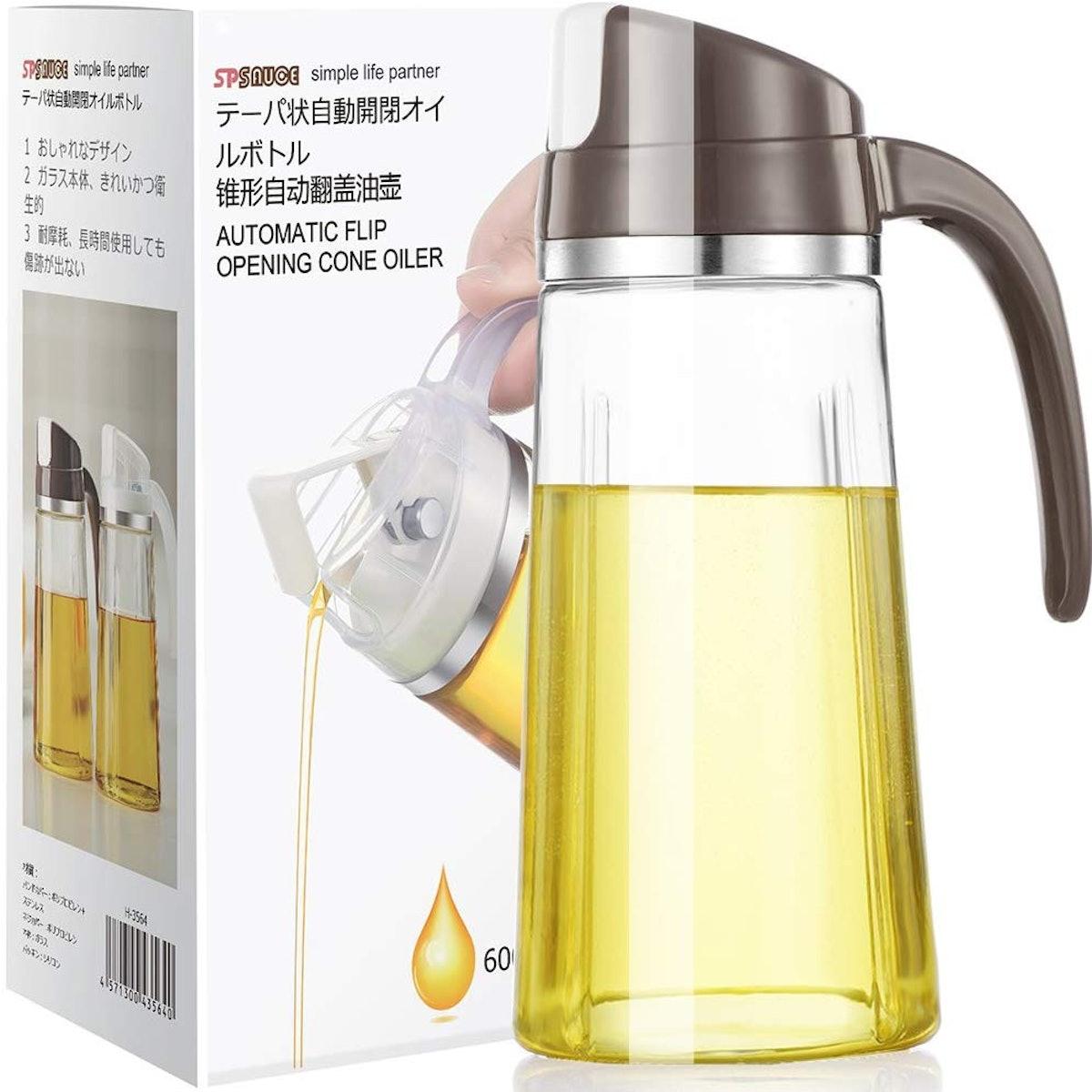 Marbrasse Auto Flip Olive Oil Dispenser Bottle