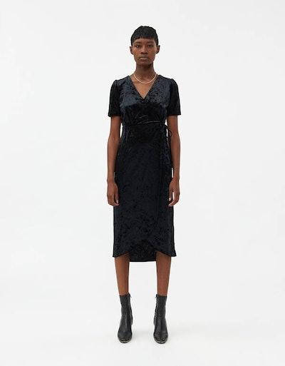 Bethany Velvet Wrap Dress