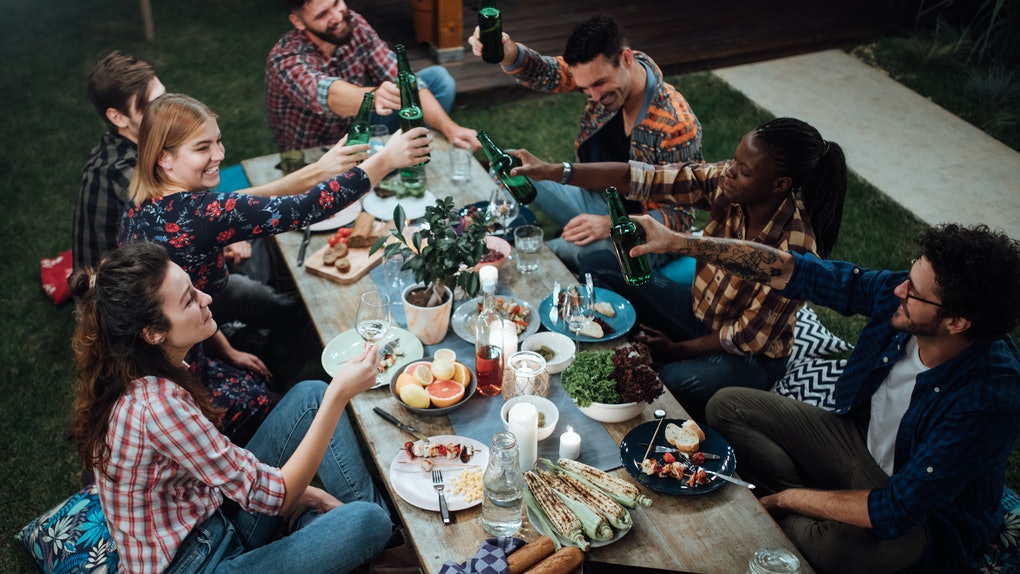 Friends celebrating Thanksgiving