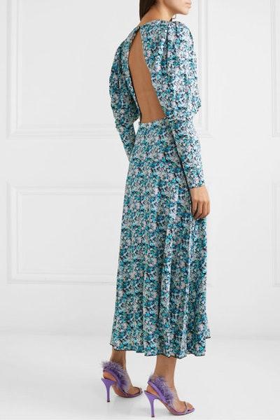 Open-Back Floral Dress