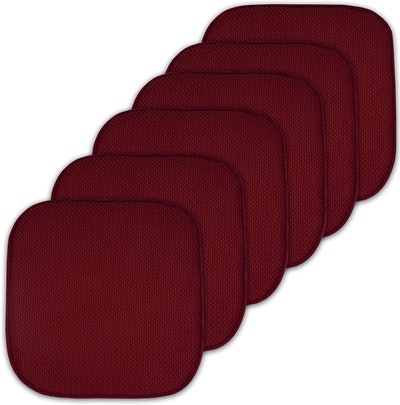 Sweet Home Collection Cushion Memory Foam Chair Pads (set of 6)