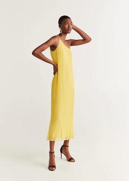 Asymmetric Pleated Dress