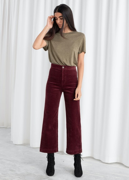 Relaxed Corduroy Trousers