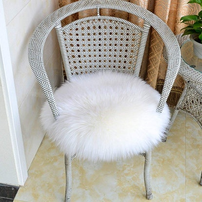 Softlife Round Faux Fur Chair Cover