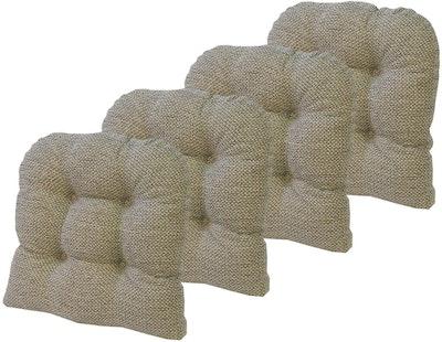 Klear Vu Tyson Non-Slip Overstuffed Dining Chair Cushion (Set Of 4)