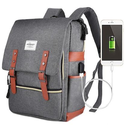 Puersit Vintage USB Backpack