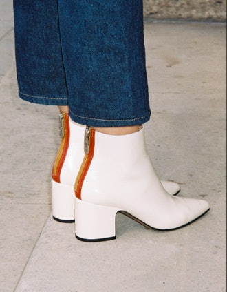 Armada ankle boots in semi patent leather