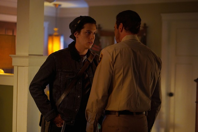 Jughead talking to his father FP Jones on Riverdale