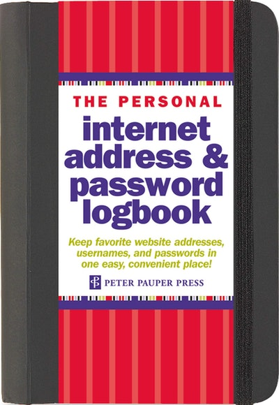 The Personal Internet Address & Password Logbook