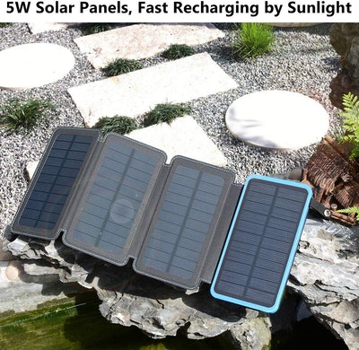 Hiluckey Solar Powered External Battery