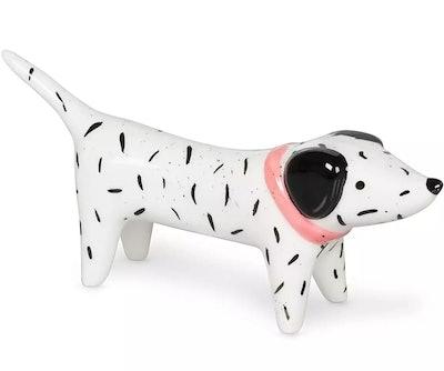 Frankie Dog White Speckle Ring Holder