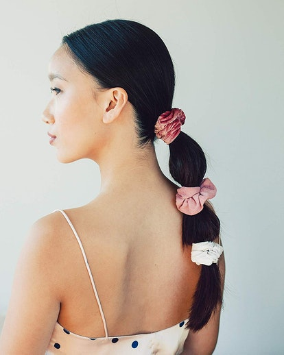 Kitsch Velvet Scrunchies for Hair (5-Pack)