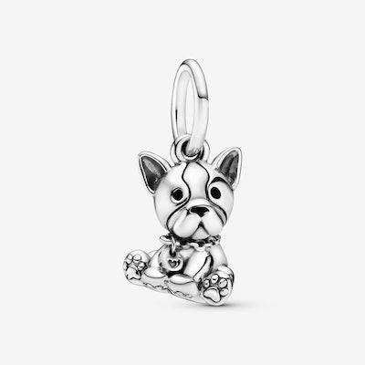 Bulldog Puppy Dog Dangle Charm