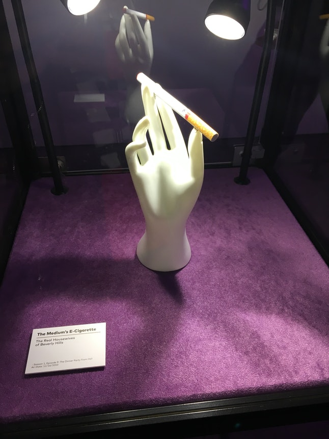 Allison DuBois' e-cigarette in display case at BravoCon 2019