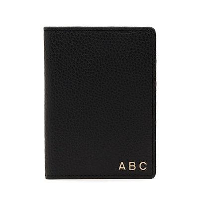 Slim Leather Passport Case (With Monogram)
