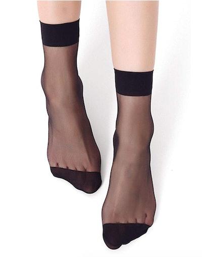 AOASK Sheer Ankle Socks (10-Pairs)