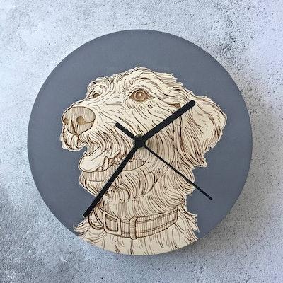 Bespoke Pet Portrait Clocks